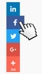 Mouse Pointing At Social Media Sharing Buttons
