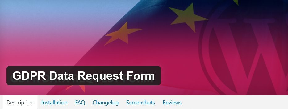 GDPR Data request form. Making your Website GDPR compliant