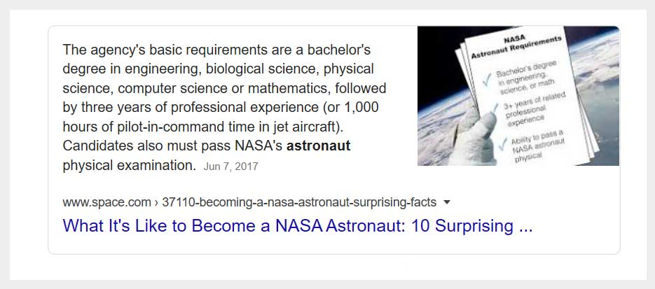 Google Featured Snippet Paragraph